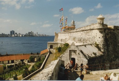 November 1995. Cuba, Havana. The old city fortification.